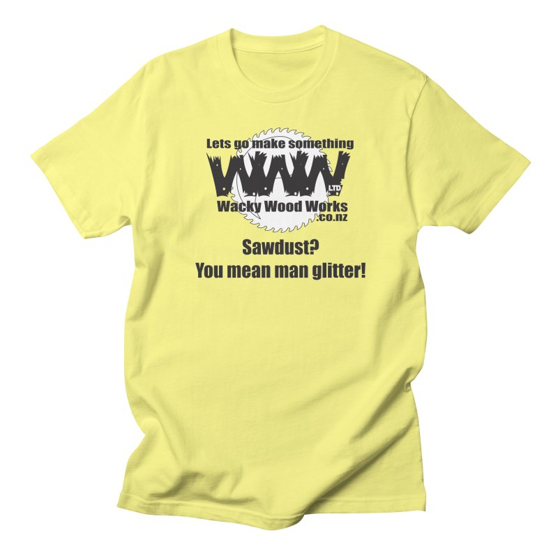 Man Glitter Men's T-Shirt by Wacky Wood Works's Shop