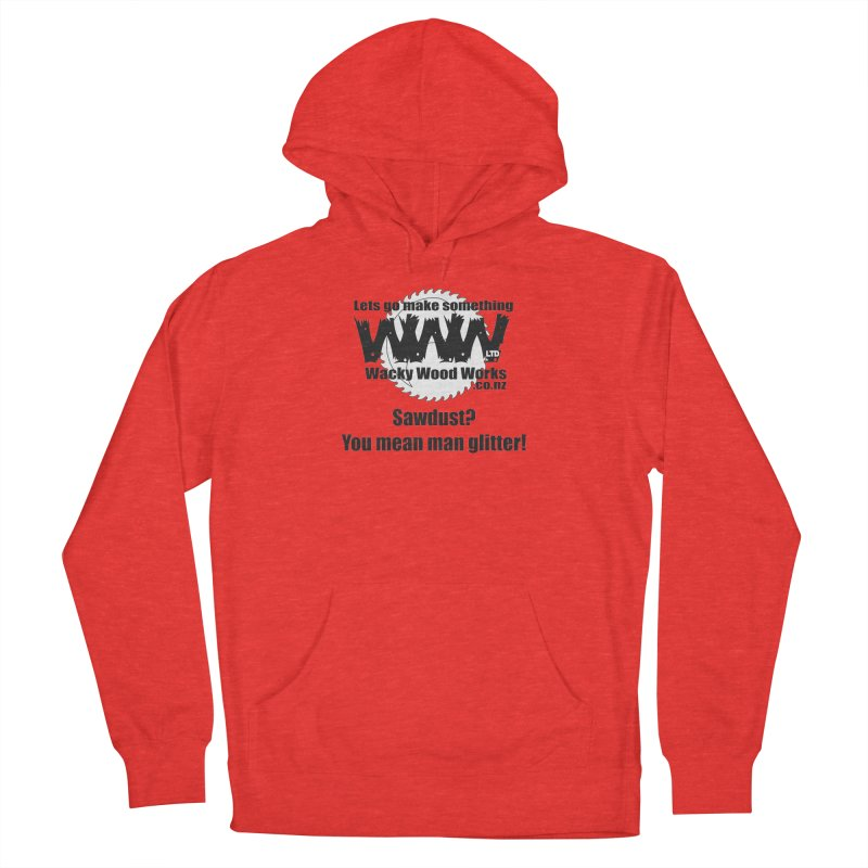 Man Glitter Women's Pullover Hoody by Wacky Wood Works's Shop