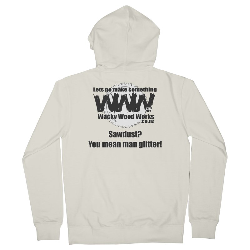 Man Glitter Women's French Terry Zip-Up Hoody by Wacky Wood Works's Shop