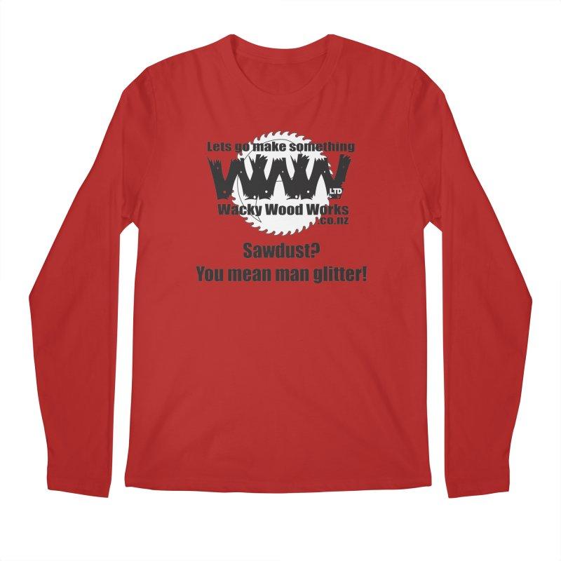 Man Glitter Men's Longsleeve T-Shirt by Wacky Wood Works's Shop