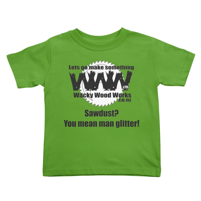 Man Glitter Kids Toddler T-Shirt by Wacky Wood Works's Shop