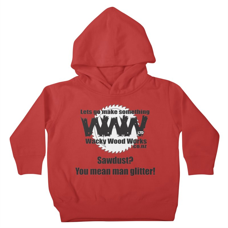 Man Glitter Kids Toddler Pullover Hoody by Wacky Wood Works's Shop