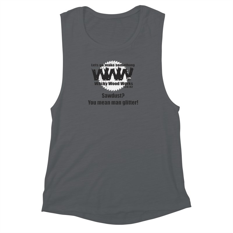 Man Glitter Women's Tank by Wacky Wood Works's Shop