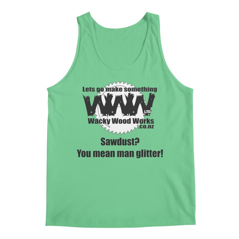 Man Glitter Men's Tank by Wacky Wood Works's Shop