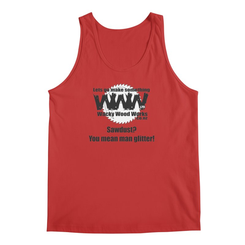 Man Glitter Men's Regular Tank by Wacky Wood Works's Shop