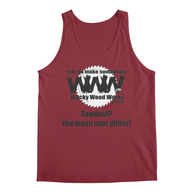 Man Glitter Men's Tank by Wacky Wood Works's Shop