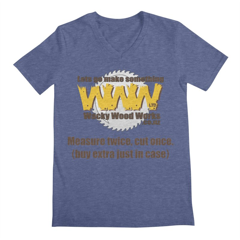 Buy Extra Men's V-Neck by Wacky Wood Works's Shop