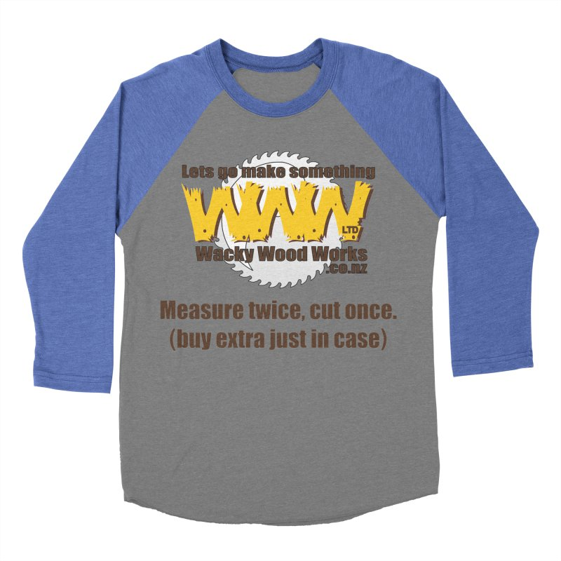 Buy Extra Men's Baseball Triblend Longsleeve T-Shirt by Wacky Wood Works's Shop