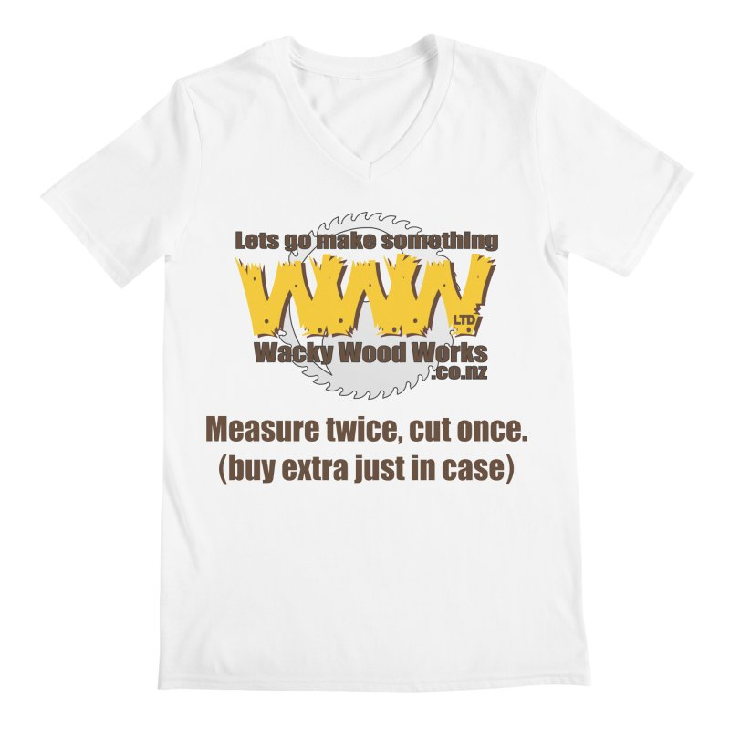 Buy Extra Men's V-Neck by Wacky Wood Works's Shop