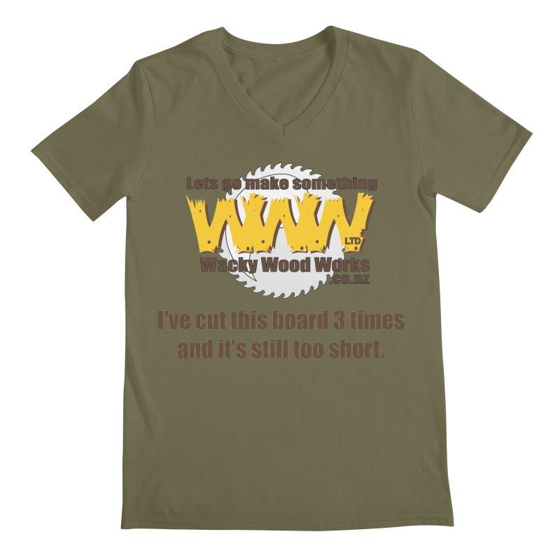 It's still to short Men's V-Neck by Wacky Wood Works's Shop