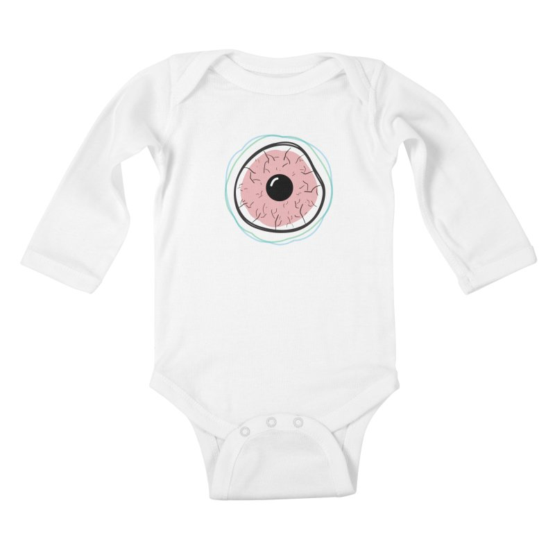 Red Eye Kids Baby Longsleeve Bodysuit by Brandon Waite - Artist Shop