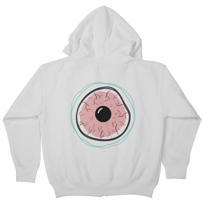 Red Eye Kids Zip-Up Hoody by Brandon Waite - Artist Shop