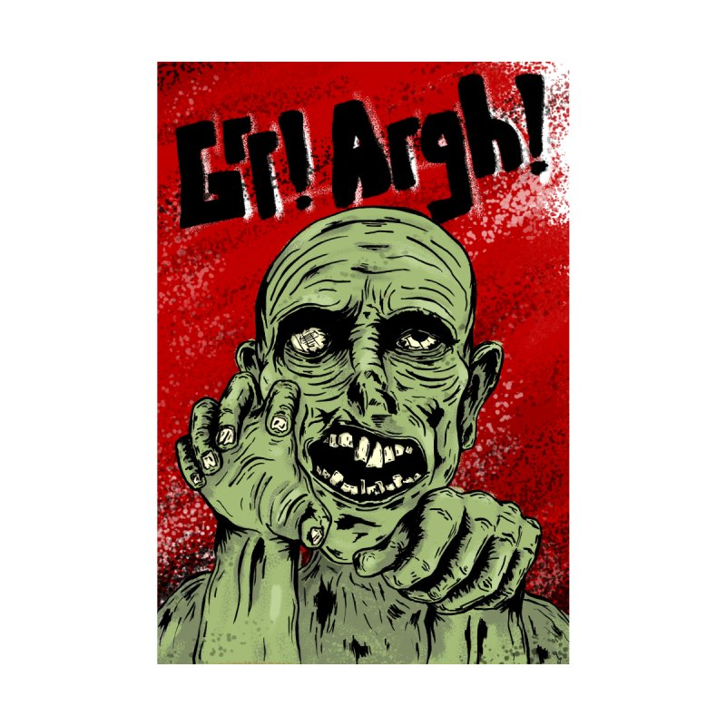 Grr! Argh! - Zombie Poster Home Framed Fine Art Print by Brandon Waite - Artist Shop
