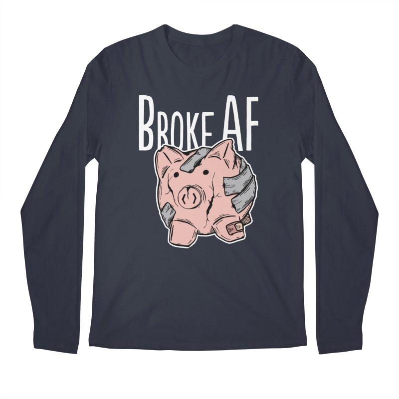 Broke AF Men's Longsleeve T-Shirt by Brandon Waite - Artist Shop