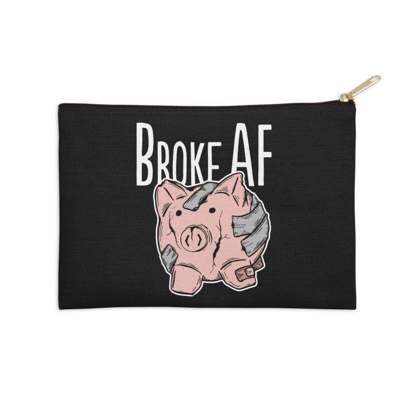 Broke AF Accessories Zip Pouch by Brandon Waite - Artist Shop
