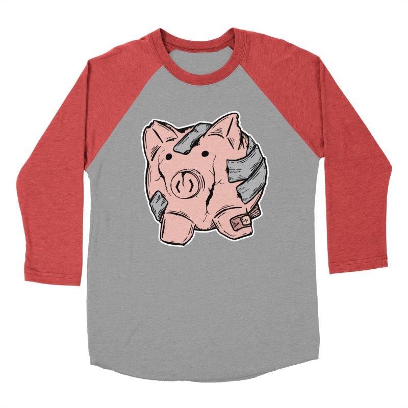 Broke AF Men's Baseball Triblend T-Shirt by Brandon Waite - Artist Shop