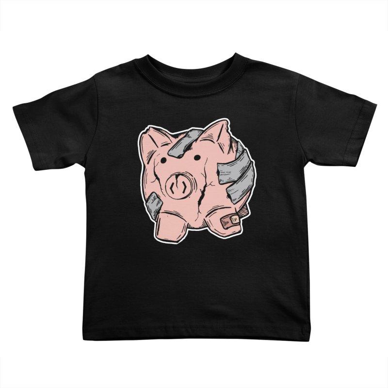 Broke AF Kids Toddler T-Shirt by Brandon Waite - Artist Shop