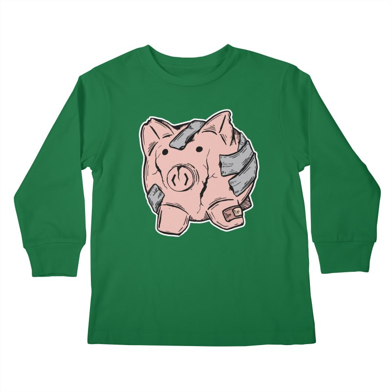 Broke AF Kids Longsleeve T-Shirt by Brandon Waite - Artist Shop