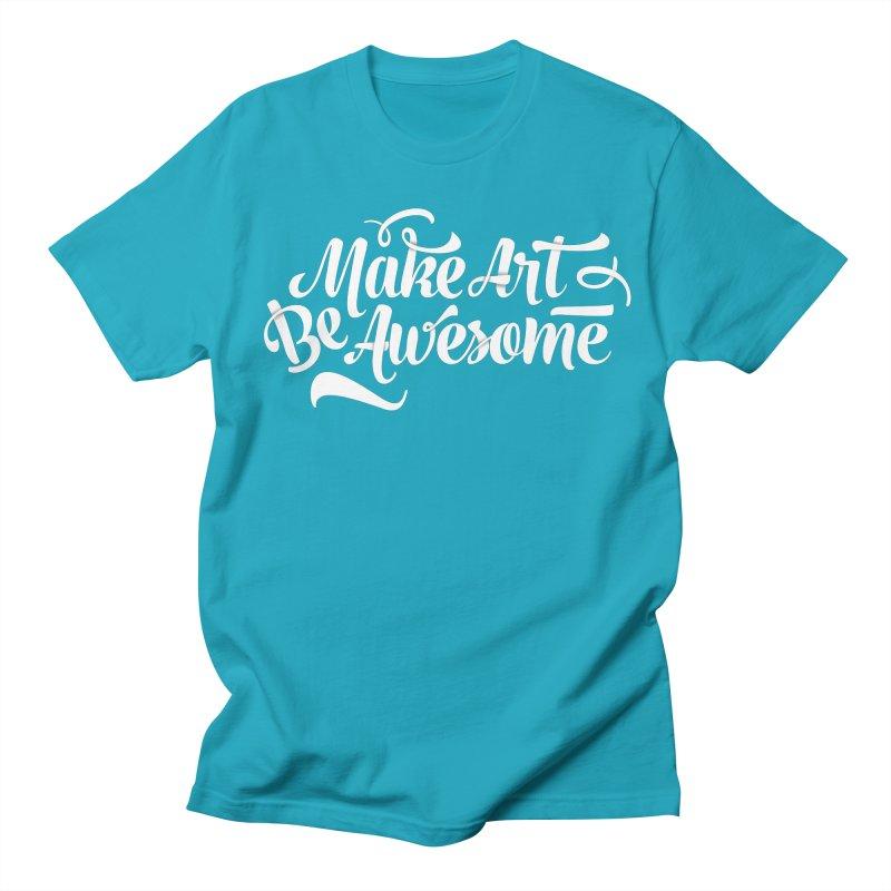 Make Art. Be Awesome. Men's Regular T-Shirt by Brandon Waite - Artist Shop