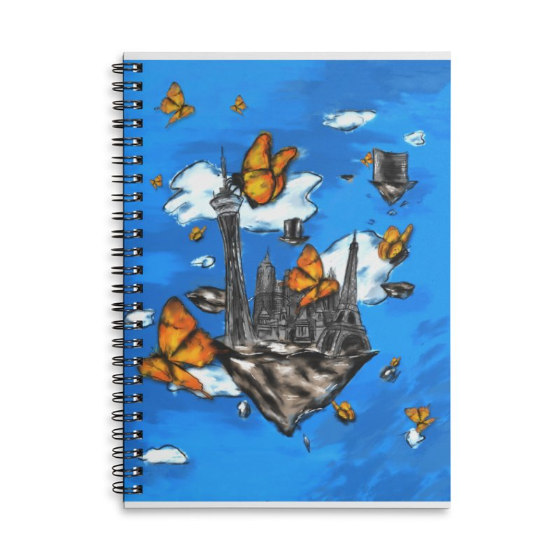 Life is Beautiful Accessories Lined Spiral Notebook by Brandon Waite - Artist Shop