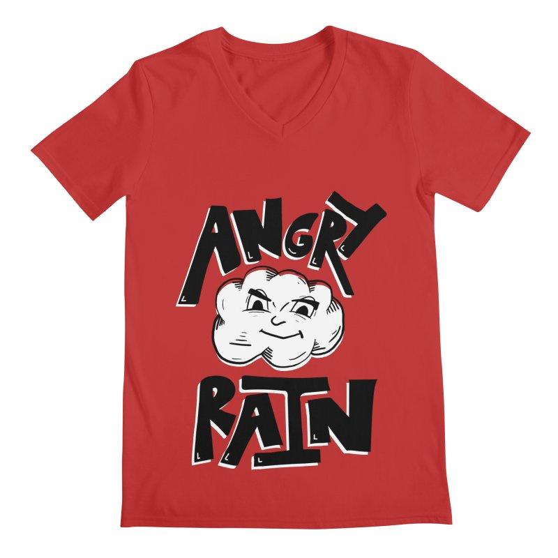 Angry Rain Men's V-Neck by Brandon Waite - Artist Shop