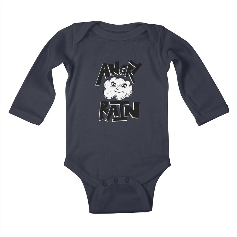 Angry Rain Kids Baby Longsleeve Bodysuit by Brandon Waite - Artist Shop