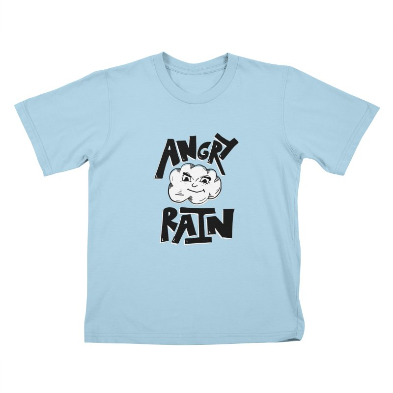 Angry Rain Kids T-Shirt by Brandon Waite - Artist Shop