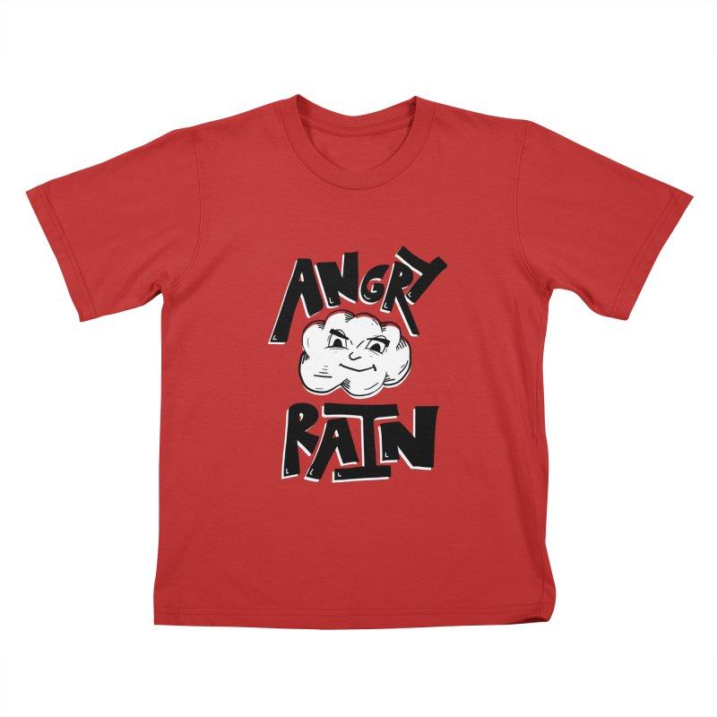 Angry Rain Kids T-shirt by Brandon Waite - Artist Shop