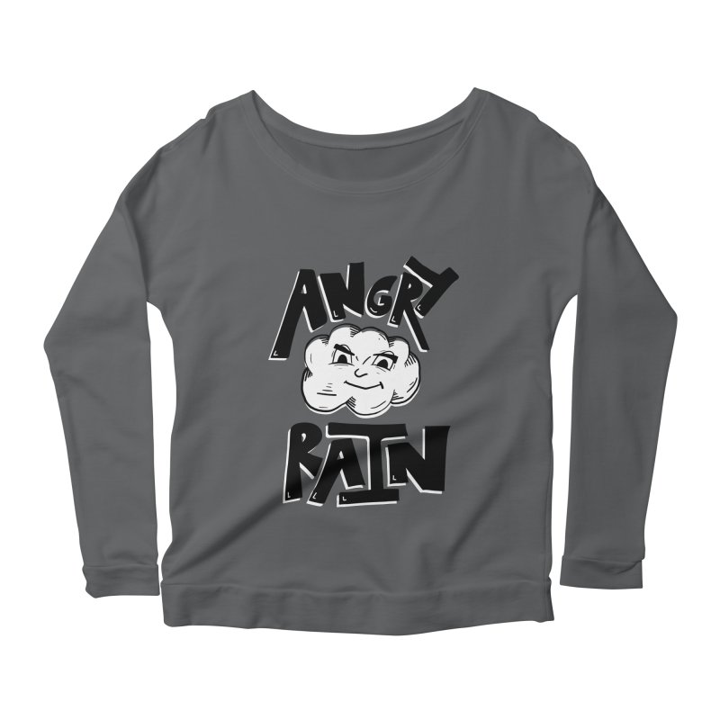 Angry Rain Women's Longsleeve Scoopneck  by Brandon Waite - Artist Shop
