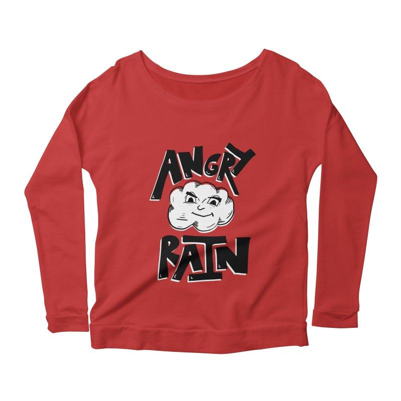 Angry Rain Women's Longsleeve Scoopneck  by Brandon Waite - Artist Shop