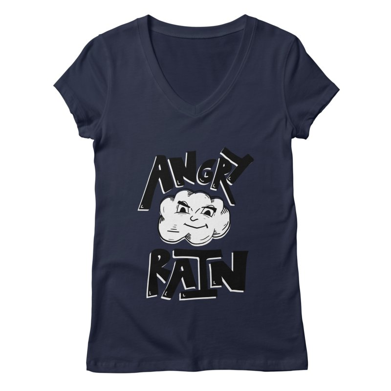 Angry Rain Women's V-Neck by Brandon Waite - Artist Shop