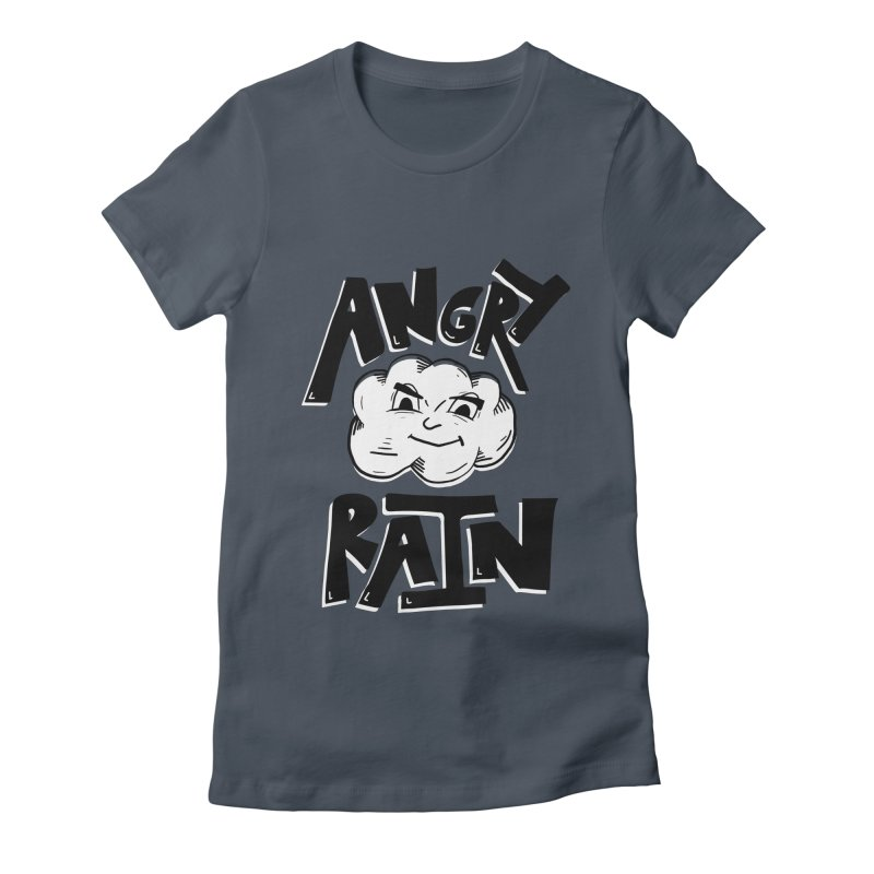 Angry Rain Women's Fitted T-Shirt by Brandon Waite - Artist Shop