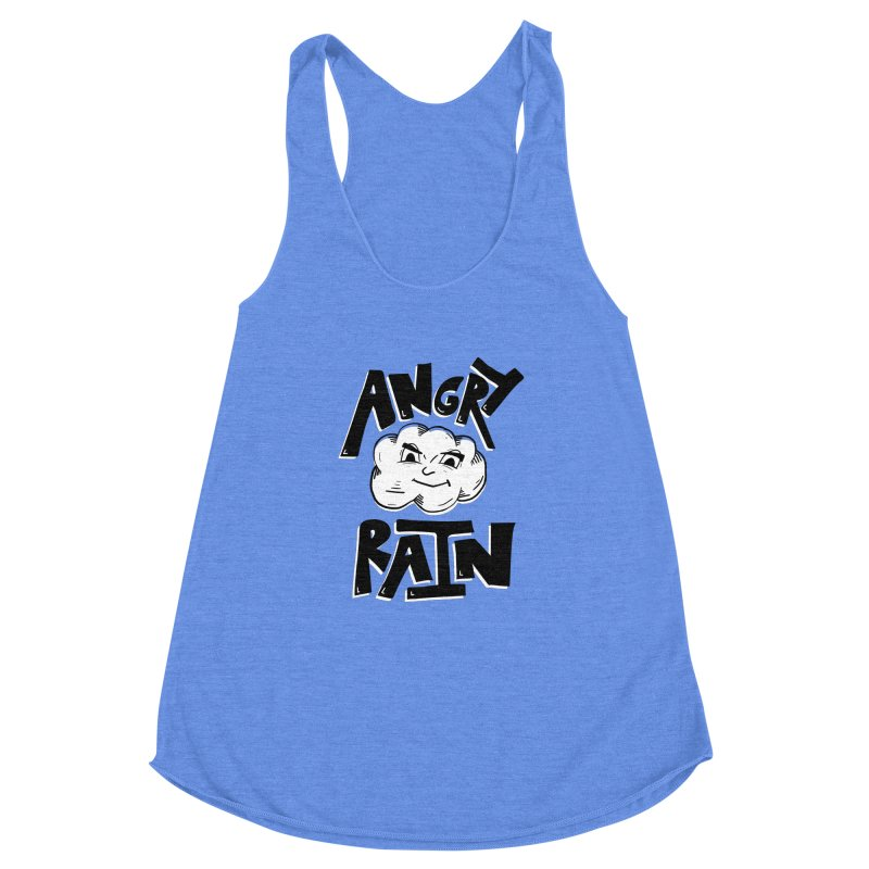 Angry Rain Women's Racerback Triblend Tank by Brandon Waite - Artist Shop