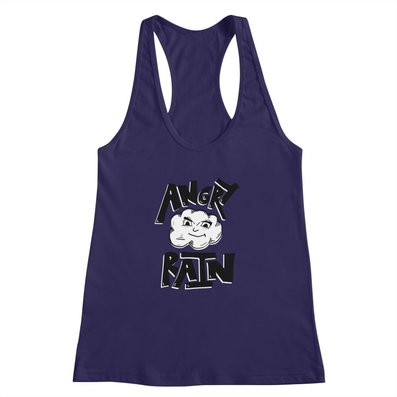 Angry Rain Women's Racerback Tank by Brandon Waite - Artist Shop