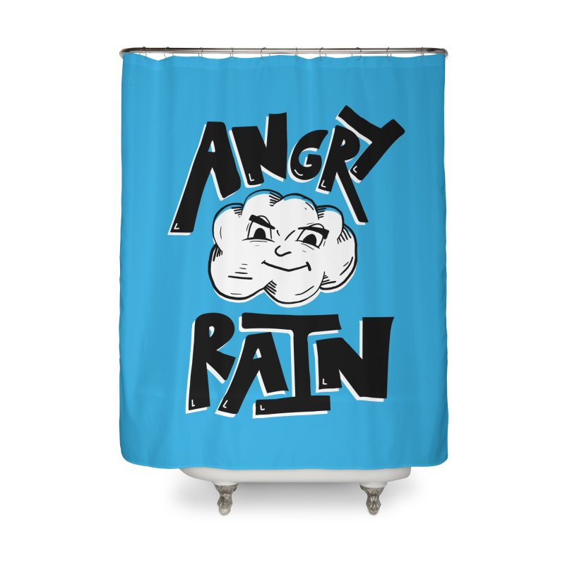 Angry Rain Home Shower Curtain by Brandon Waite - Artist Shop