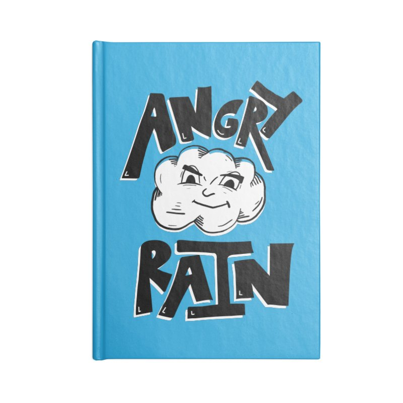 Angry Rain Accessories Blank Journal Notebook by Brandon Waite - Artist Shop
