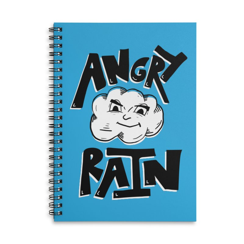 Angry Rain Accessories Lined Spiral Notebook by Brandon Waite - Artist Shop