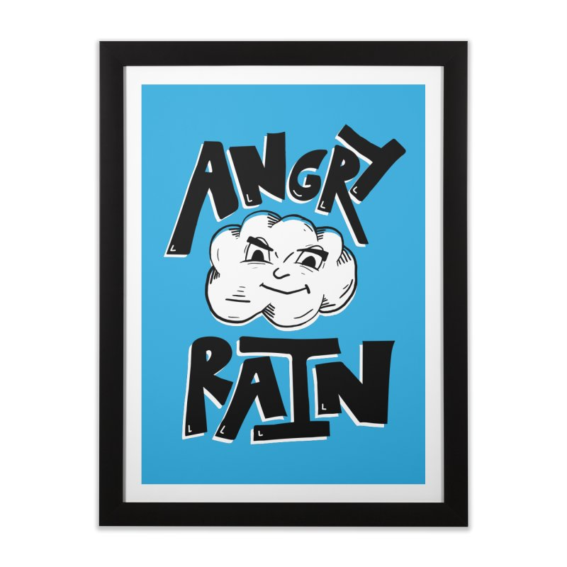 Angry Rain in Framed Fine Art Print Black by Brandon Waite - Artist Shop