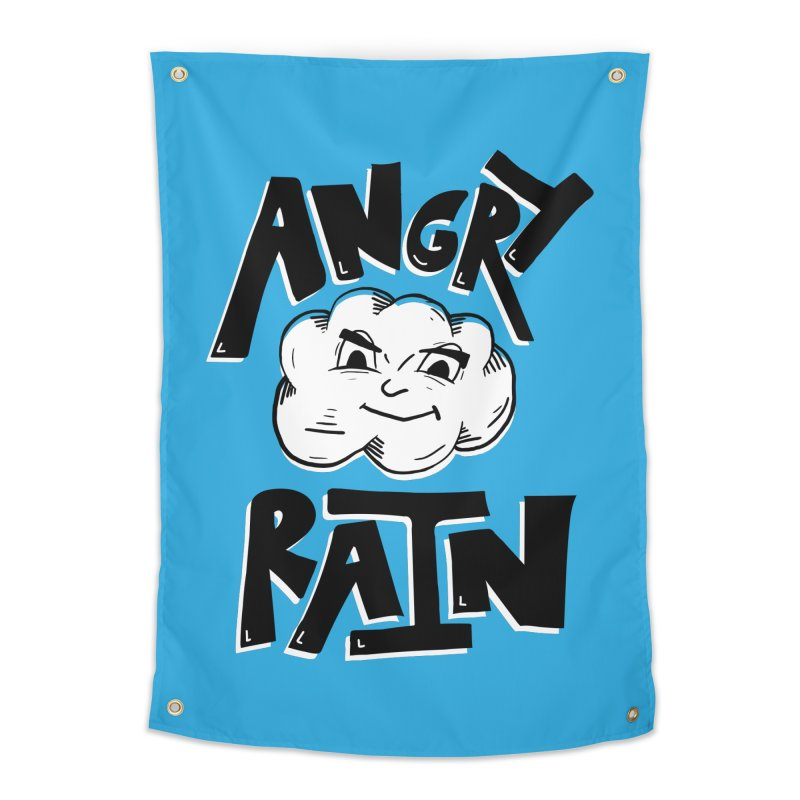 Angry Rain Home Tapestry by Brandon Waite - Artist Shop