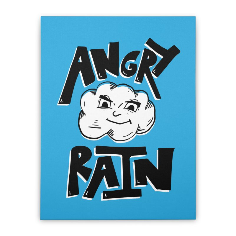 Angry Rain Home Stretched Canvas by Brandon Waite - Artist Shop