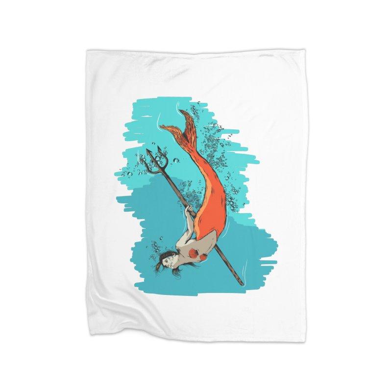 Mermaid Home Blanket by Brandon Waite - Artist Shop