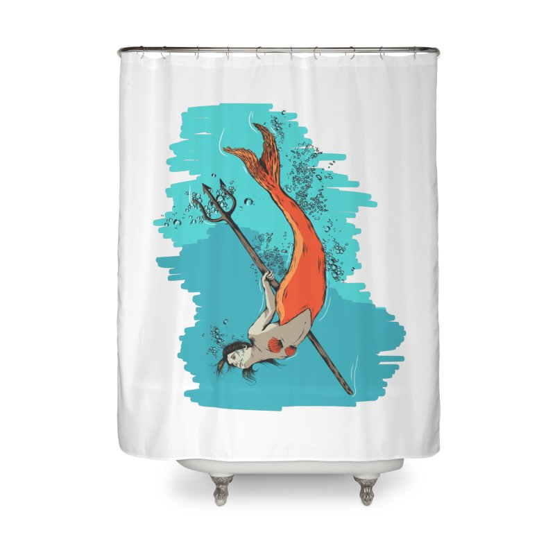 Mermaid Home Shower Curtain by Brandon Waite - Artist Shop