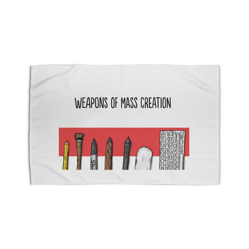 Weapons of Mass Creation Home Rug by Brandon Waite - Artist Shop