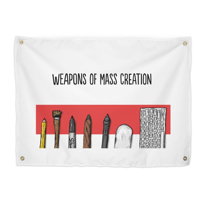 Weapons of Mass Creation Home Tapestry by Brandon Waite - Artist Shop