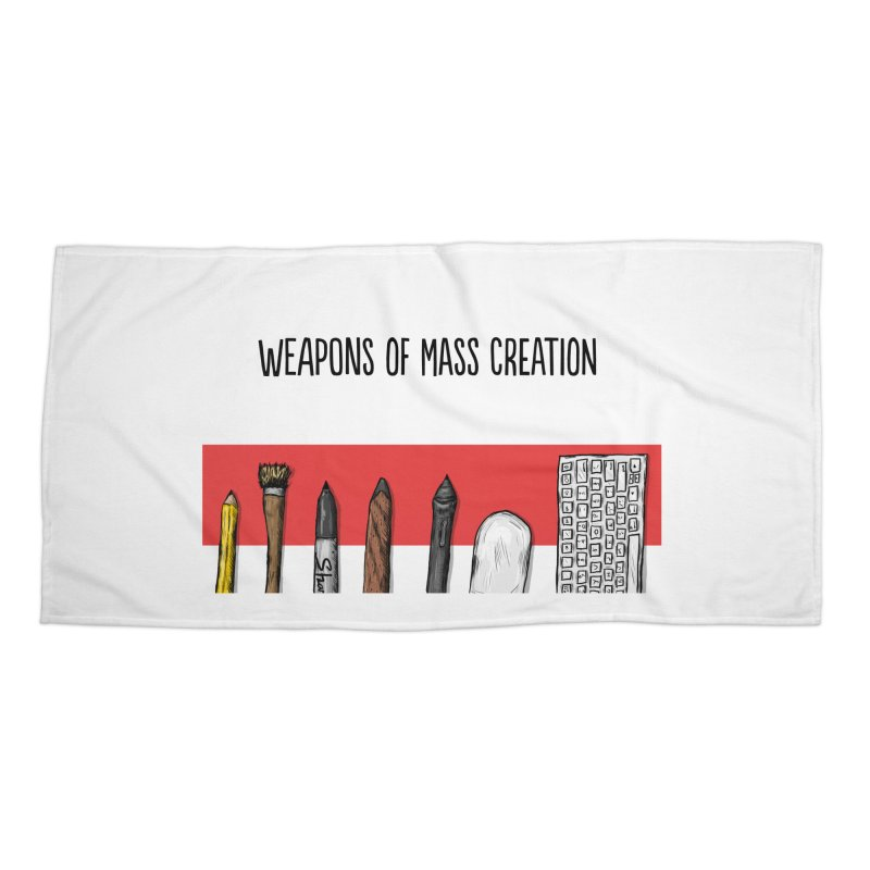 Weapons of Mass Creation Accessories Beach Towel by Brandon Waite - Artist Shop