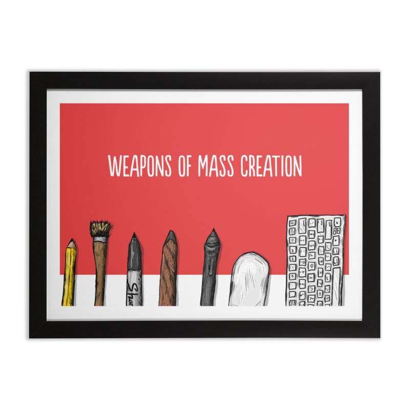 Weapons of Mass Creation in Framed Fine Art Print Black by Brandon Waite - Artist Shop