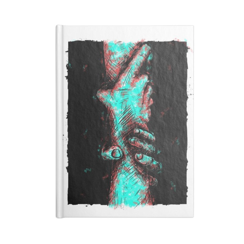 Ink Hand 1 Accessories Lined Journal Notebook by Brandon Waite - Artist Shop