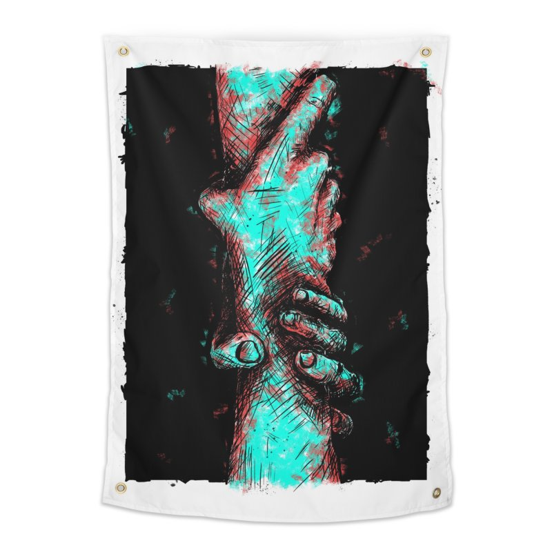 Ink Hand 1 Home Tapestry by Brandon Waite - Artist Shop