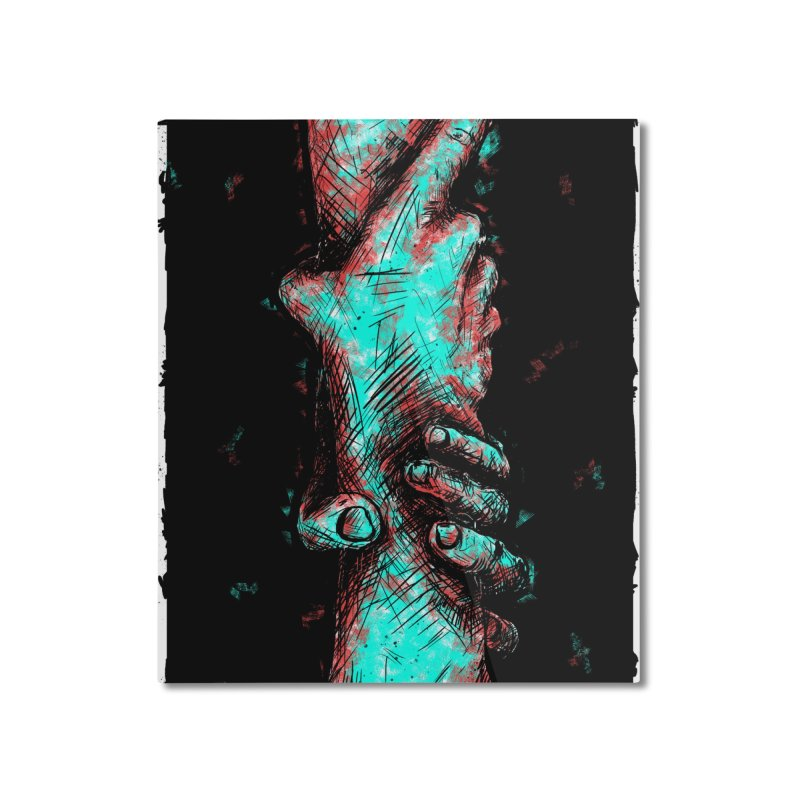 Ink Hand 1 Home Mounted Aluminum Print by Brandon Waite - Artist Shop