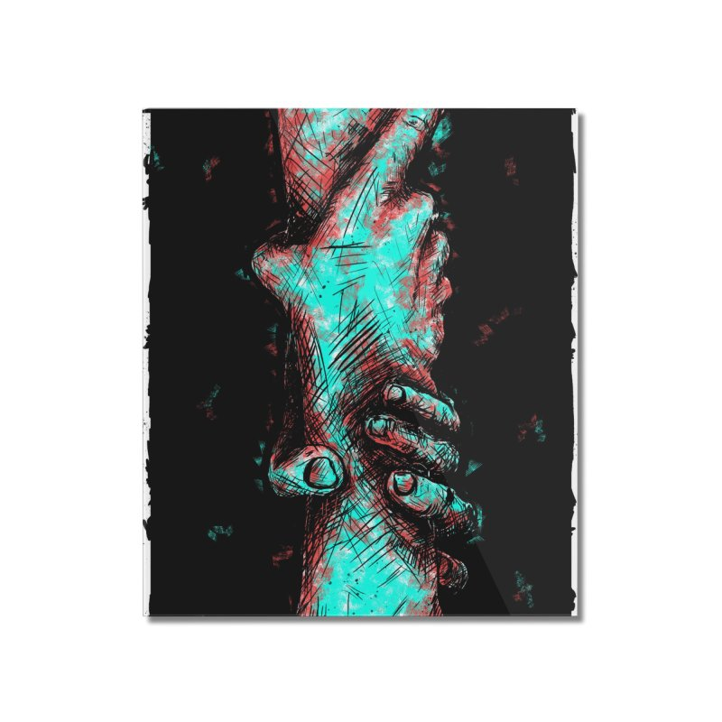 Ink Hand 1 Home Mounted Acrylic Print by Brandon Waite - Artist Shop
